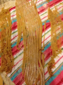 Drying linguine